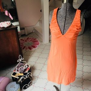 Velvet for Garnet Hill • Orange Cotton Dress • S